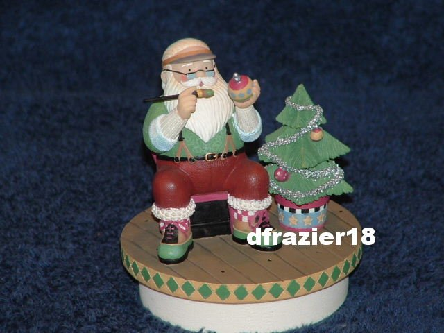 SANTA'S MAGIC TOUCH Jar Candle Topper Debbie Mumm Christmas