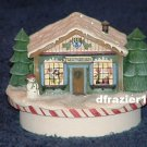 SANTA TOY WORKSHOP Jar Candle Topper Debbie Mumm Christmas