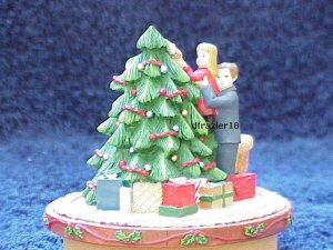 CHRISTMAS EVE Jar Candle Topper Decorating the Tree Holiday Decor