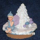 WINTER FAIRY Jar Candle Topper Fairie Faery Faerie Christmas Holiday