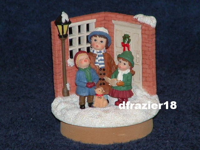 CAROLERS Jar Candle Topper Christmas Holiday