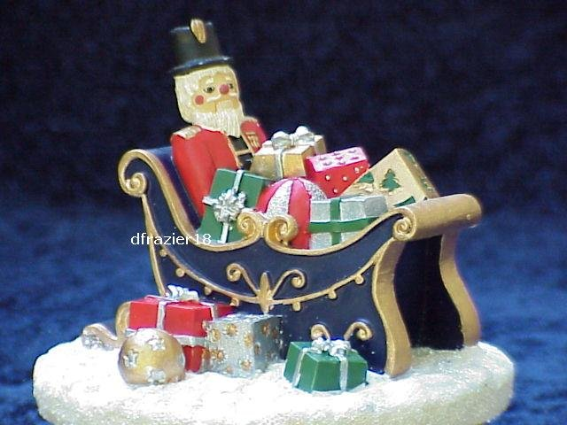 SLEIGH Jar Candle Topper Toy Santa Nutcracker Christmas