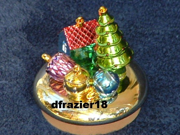 GLASS ORNAMENTS Jar Candle Topper Christmas Holiday