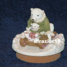 POLAR BEARS Jar Candle Topper Christmas Winter Holiday