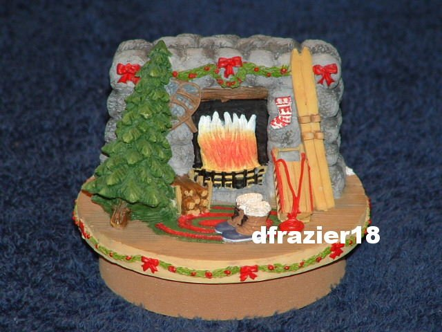 WINTER LODGE Jar Candle Topper Christmas Ski Theme Decor