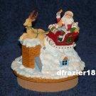 SANTA CLAUS REINDEER SLEIGH Jar Candle Topper Christmas