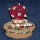 CRANBERRIES AND PINECONES Jar Candle Topper Cranberry Pinecone Christmas Holiday