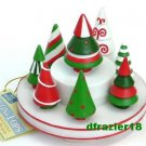 Stay On Top Candle Topper Capper Snuffer Set Christmas HOLIDAY TREES
