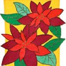 PASSION FOR POINSETTIA Toland Decorative Garden Flag Large Applique Christmas