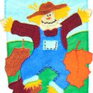 SCARECROW DANCE Toland Garden Flag Large Applique Fall Autumn
