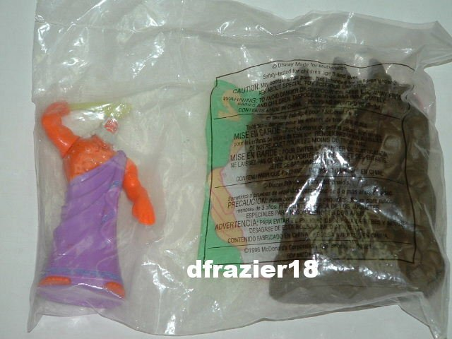 McDonalds McDonald's Happy Meal Toy 1996 #2 Walt Disney Hercules 2 Figurines ZEUS, ROCK TITAN
