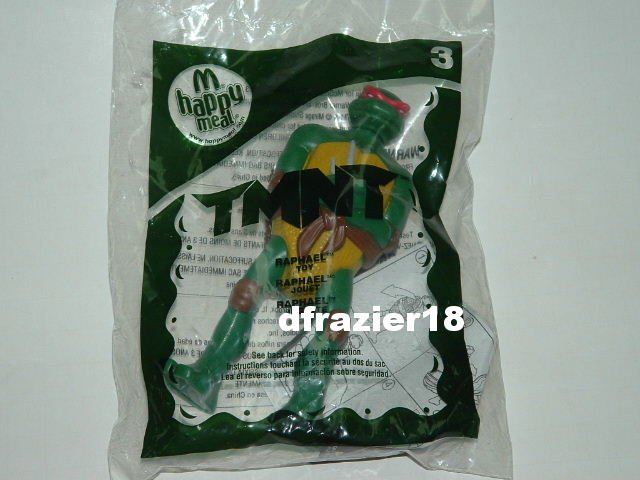 McDonalds McDonald's Happy Meal Toy TMNT Teenage Mutant Ninja Turtle 2007 RAPHAEL #3