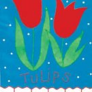 TWO TULIPS Toland Decorative Garden Flag Large Applique Tulip