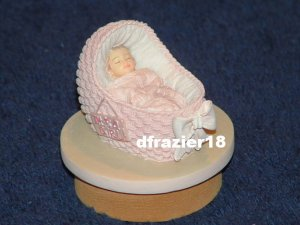 Teenie Candle Topper Fits Small Jar MINI NEW BABY GIRL