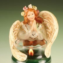 Teenie Candle Topper Hug Hugs Hugger Stay On Fits Small Jar MINI ANGEL