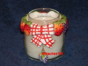 Teenie Candle Topper Bow Ring Stay On Fits Small Jar MINI MIXED BERRIES