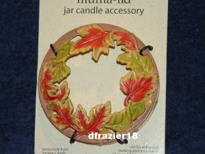 COLORED LEAVES Illuma-Lid Yankee Candle Jar Topper Stay On Top Fall Autumn Decoration Decor