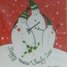 NIPPY NOSES Snowman Toland Decorative Garden Flag Mini Small Size Winter