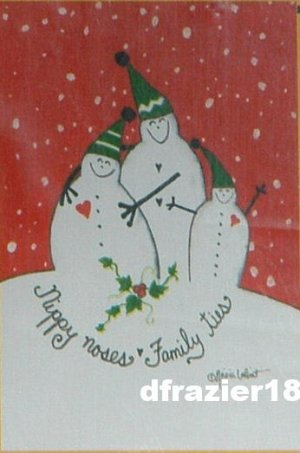 NIPPY NOSES Snowman Toland Decorative Garden Flag Mini Small Size Winter