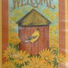 BARN BIRDHOUSE Toland Decorative Garden Flag Mini Small Size Winter
