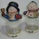 Adorable Snow People Candy Jars