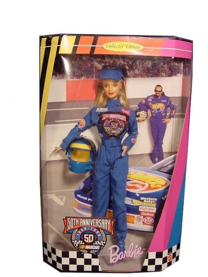 1998 Barbie 50th Anniversary Nascar Doll