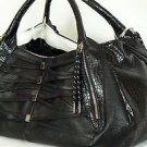 GX Tamura By Gwen Stefani Black White Satchel Handbag Purse in EUC Smoke Free