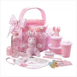 Pink Baby Soft Basket Set