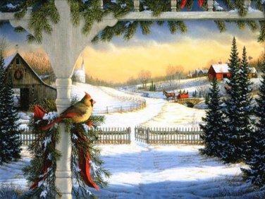Frosty Winter Morning Cross Stitch Pattern***L@@K***