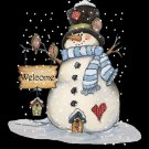 Christmas Snowman Cross Stitch Pattern***L@@K***