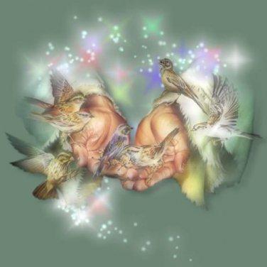 Birds In Gods Hands Cross Stitch Pattern***L@@K***