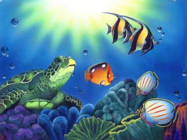 TurtLe Dreams Sea Life Cross Stitch Pattern***L@@K***