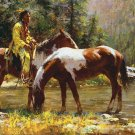 Native American Horses Cross Stitch Pattern***L@@K***