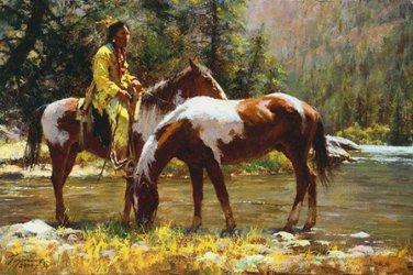 Native American Horses Cross Stitch Pattern***L@@K***