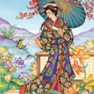 ORIENTAL Asian Parsol Cross Stitch Pattern***L@@K***
