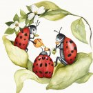Lady Bug Tea Party Cross Stitch Pattern***L@@K***
