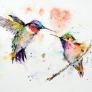 Humming Birds Watercolor Cross Stitch Pattern***L@@K***