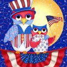 Patriotic Owls Cross Stitch Pattern***L@@K***