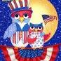Patriotic Owls Cross Stitch Pattern***L@@K***