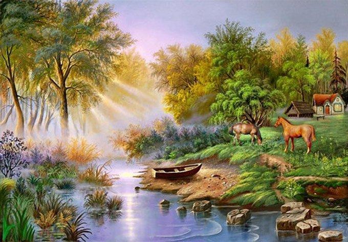 Beautiful Paradise Cross Stitch Pattern***L@@K***