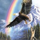 Eagle Rainbow Cross Stitch Pattern***L@@K***