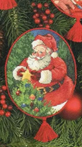 Jolly Santa Cross Stitch Pattern***L@@K***