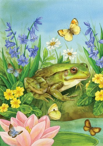 Frog Pond Lily Pad Butterflies Cross Stitch Pattern***L@@K***