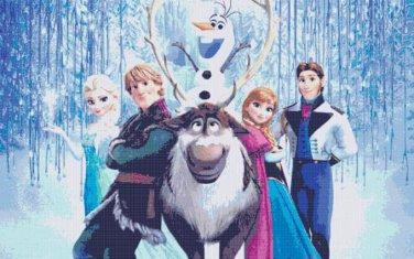 Frozen Characters Cross Stitch Pattern***L@@K***