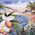 Hawaiian Orchids Cross Stitch Pattern***L@@K***
