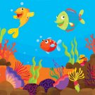 Tropical Fish Scene Cross Stitch Pattern***L@@K***