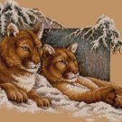 Snowy Cougars Cross Stitch Pattern***L@@K***