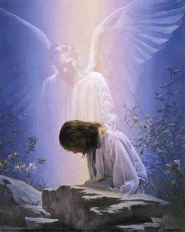 Angel While Praying Cross Stitch Pattern***L@@K***