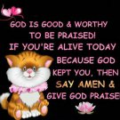 Give God Praise Cross Stitch Pattern***L@@K***