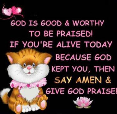 Give God Praise Cross Stitch Pattern***L@@K***